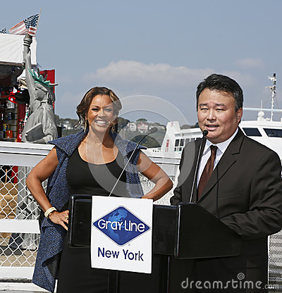 Vanessa Williams and David Chien Editorial Stock Photo