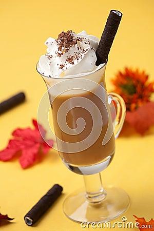 Free Vanilla Chocolate Chip Coffee Cocktail Stock Photo - 10825430