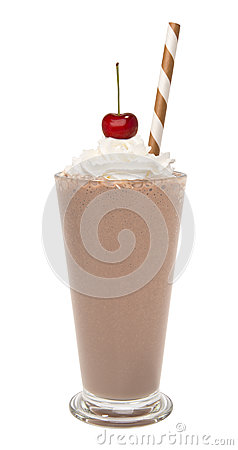 Free Vanilla Chocolate Milkshake With Whipped Cream And Cherry Isolated Royalty Free Stock Images - 88273979