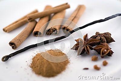 Vanilla and cinnamon