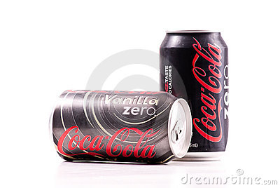 Vanilla Coke Zero Cola Editorial Stock Photo