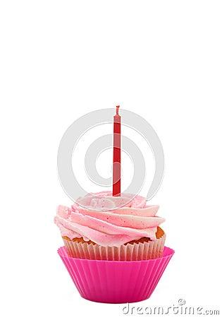 Vanilla cupcake with rose icing