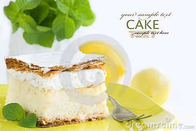 Vanilla custard cream cake