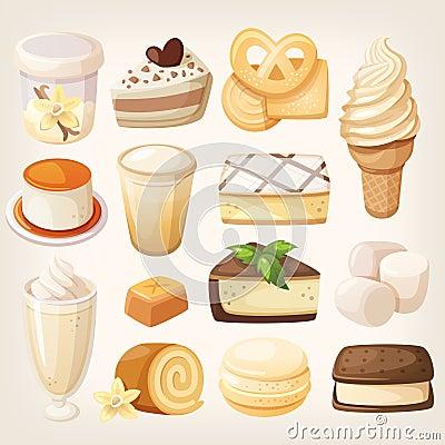 Free Vanilla Desserts Royalty Free Stock Photography - 66825647