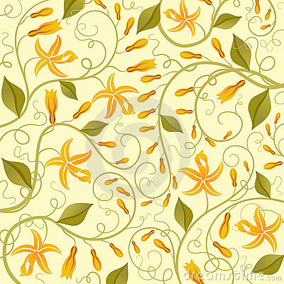 Vanilla. Floral background.