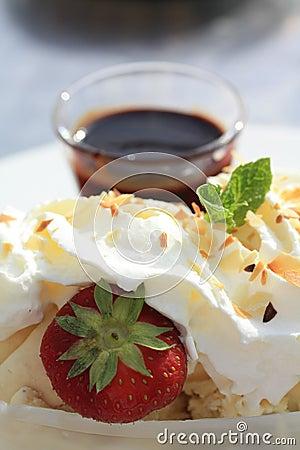 Vanilla Ice Cream with Hot Chocolate Sauce
