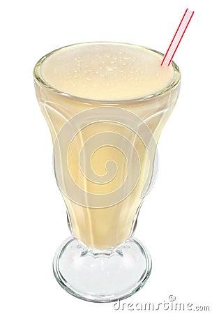 Vanilla ice cream milkshake drink