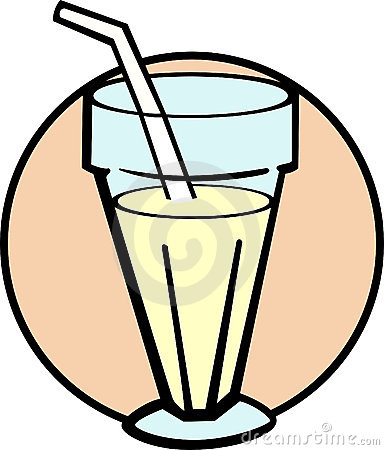 vanilla milkshake vector illustration