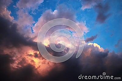 Vanilla sky in horror style