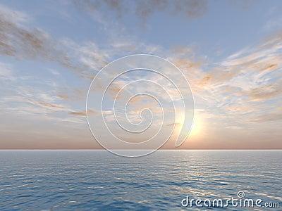 Vanilla Sky Over Sea
