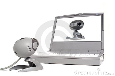 Vanity Computer Web Cam Looking at Image on Laptop
