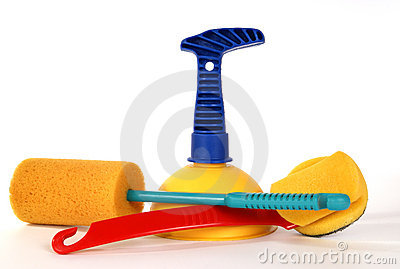 Vantuz  (plunger) and brushes to clean the toilet
