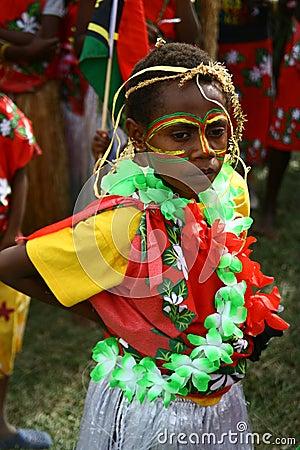 Vanuatu tribal villagers Editorial Stock Image