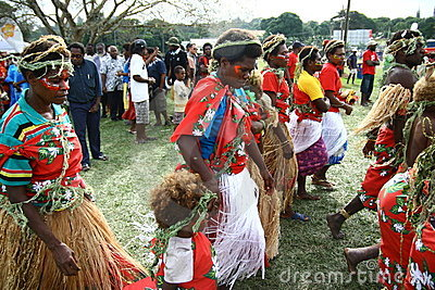 Vanuatu tribal villagers Editorial Stock Photo