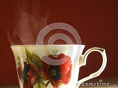 Vaporating cup of tea