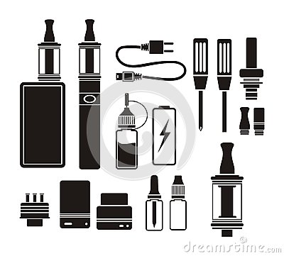 Free Vaporizer Kits - Silhouette Stock Photos - 50457183