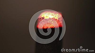 Vara encarnado de queimadura do incenso vídeos de arquivo