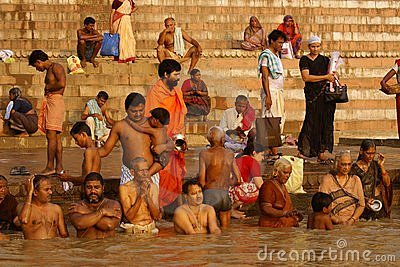 Varanasi Ganges Imagem de Stock Editorial
