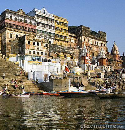 Varanasi - Hindu Ghats - India Editorial Photography