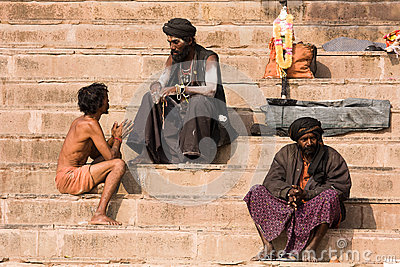 Varanasi, India. Editorial Stock Photo