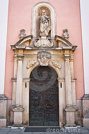 Varazdin cathedral details