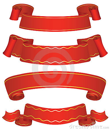 Variants of four banners.
