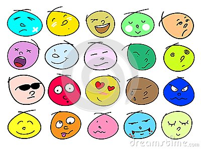 Variations Human Face Icons