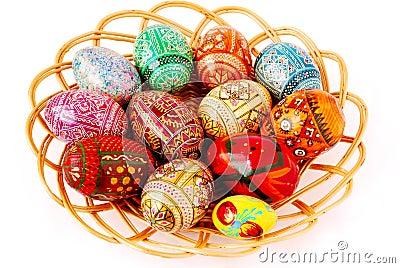 Varicoloured easter eggs