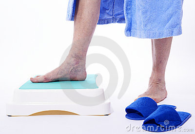 Varicose veins on white background