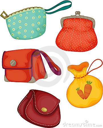 Free Varieties Of Ladies Purses Royalty Free Stock Photos - 14256528