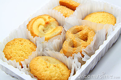 Variety of assorted tea time biscuits