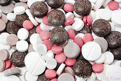 Variety of different pills