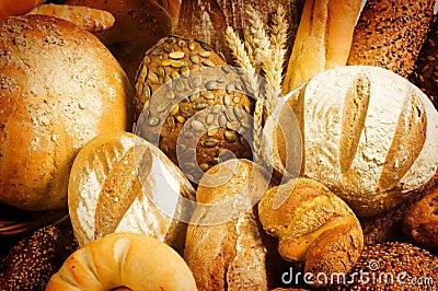 Variety of fresh bread