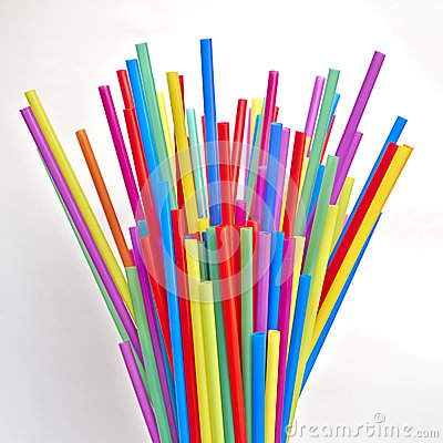 Free Variety Of Colorful Drinking Straws Stock Photo - 41989400
