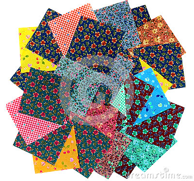 Free Variety Of Cotton Squares For Quilting Stock Image - 65364171