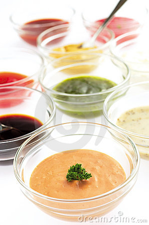 Free Variety Of Sauces Royalty Free Stock Image - 21576716