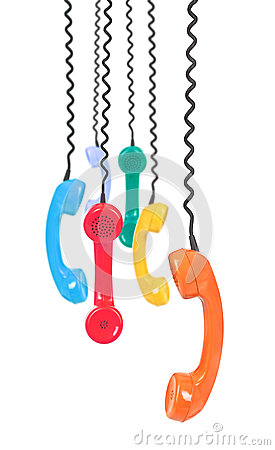Free Variety Of Telephone Receivers Royalty Free Stock Photo - 29064315