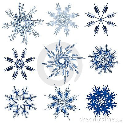 Variety of Snowflakes Clip Art