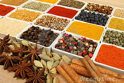 Variety of spices.