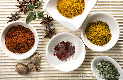Variety of spices and herbs 2