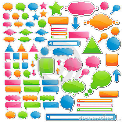 Variety of Stickers and Icons