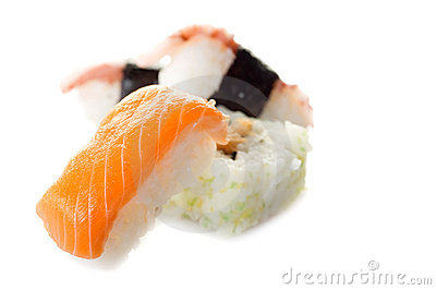 Variety on sushi