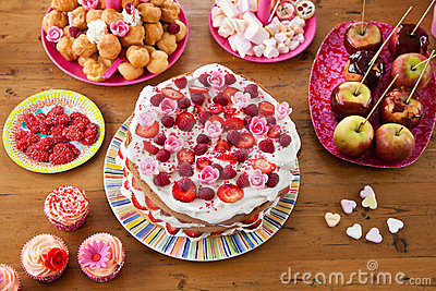 Variety of sweet treats on a table