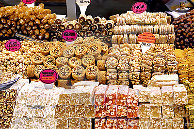 Variety of Turkish sweet