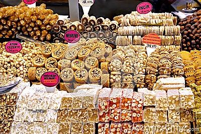 Variety of Turkish sweet