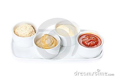 Varios tipos de salsa