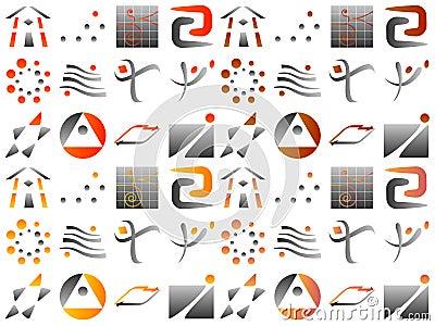 Various Abstract Vector Logo Icon Design Elements