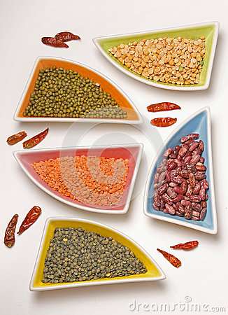 Different beans and pepper