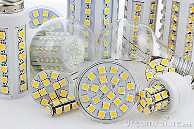 Various bulbs with 3-chip SMD LEDs