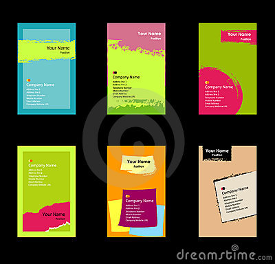 Free Various Business Card Set Royalty Free Stock Images - 13862929